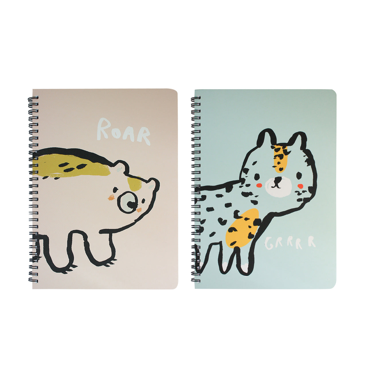 A5 Cartoon Animal Notebook - Set of 2
