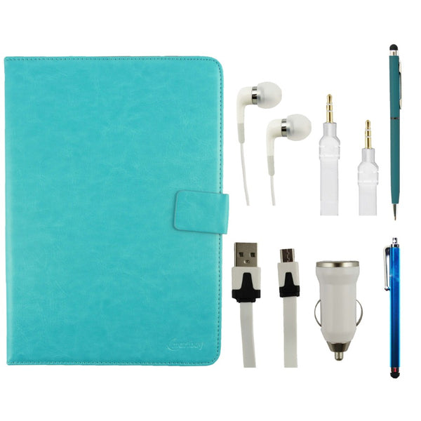 Turquoise Tablet Accessory Bundle Pack