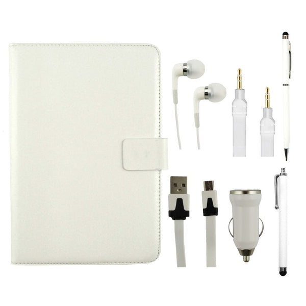 White Tablet Accessory Bundle Pack
