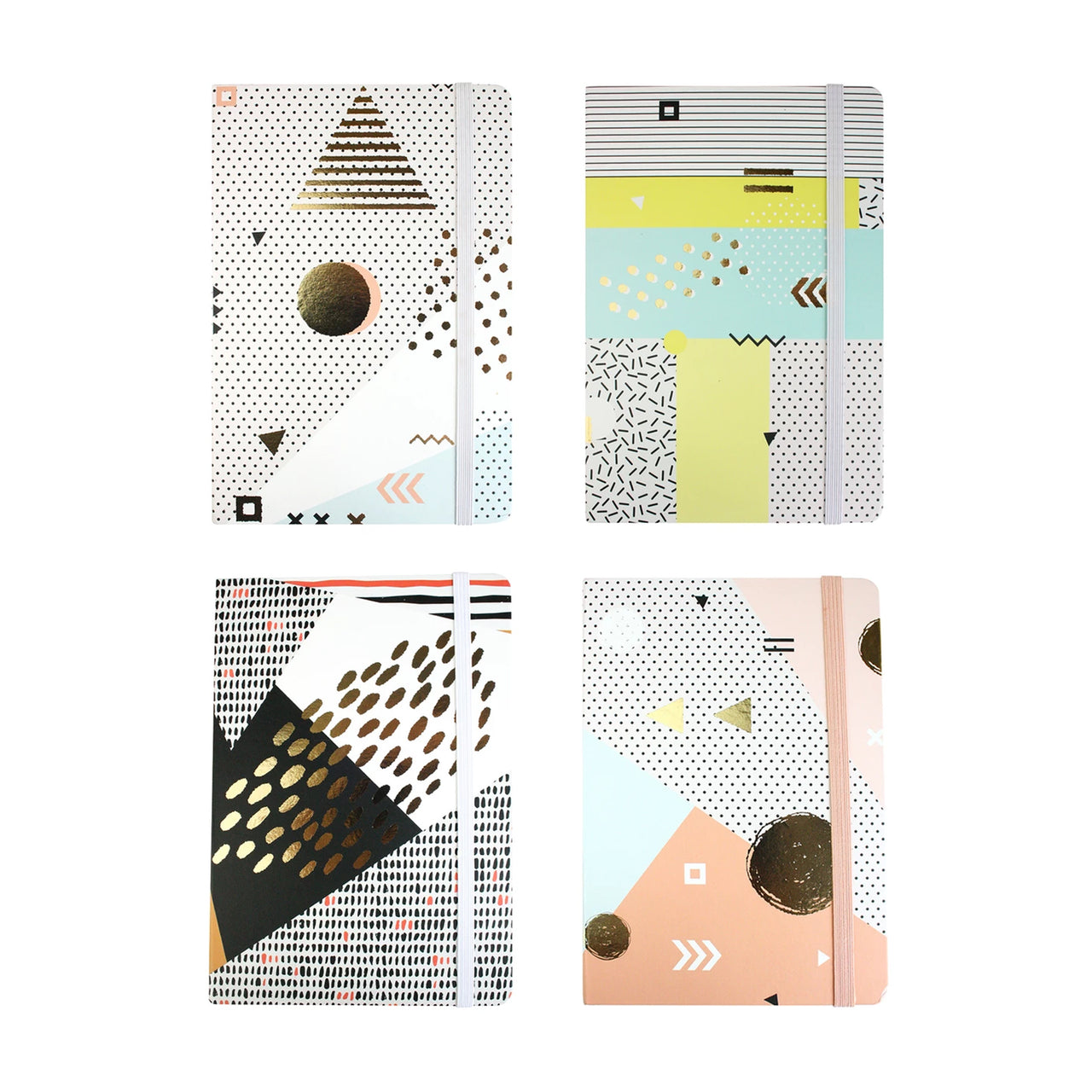 A5 Abstract Notebook - Set of 4 - EMARTBUY