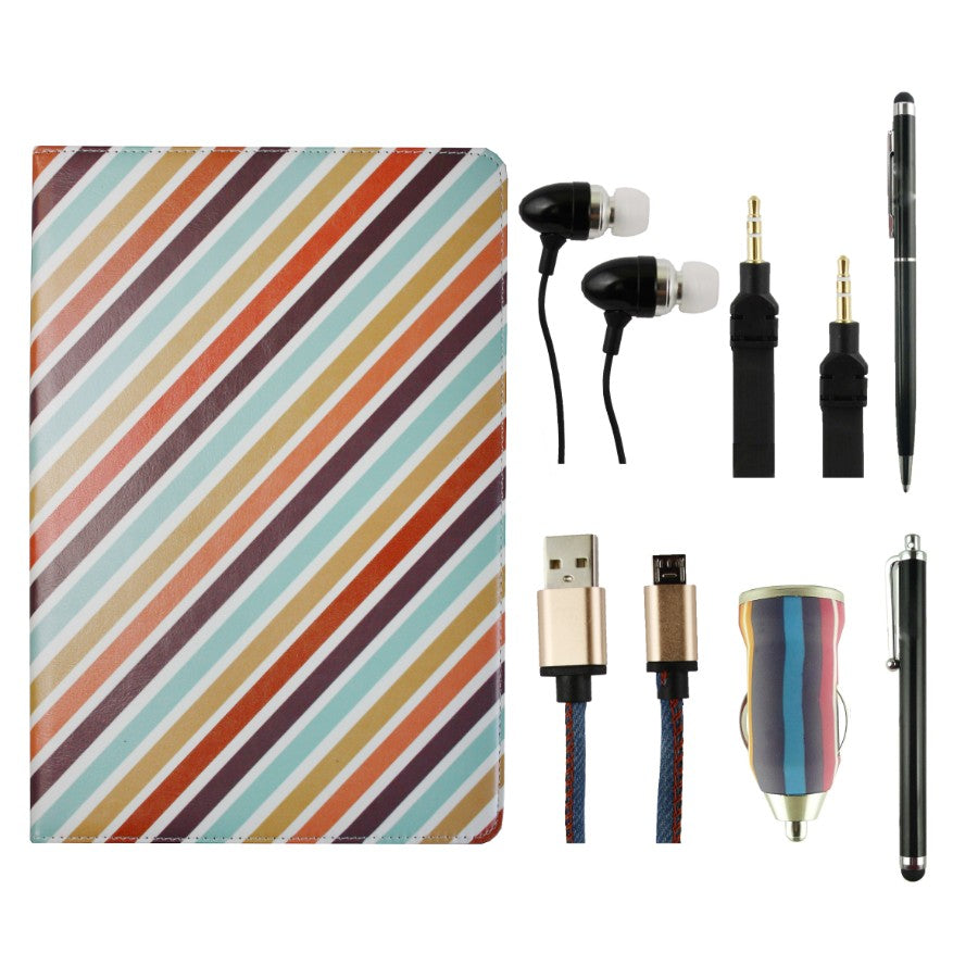 Tablet Accessory Bundle Pack - Candy Stripes