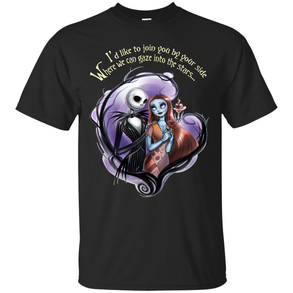 I\'d Like To Join You By Your Side Nightmare Before Christmas T Shirt ...
