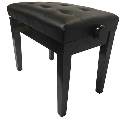 Steinhoven Piano Stool Sonata, Polished Ebony Adjustable
