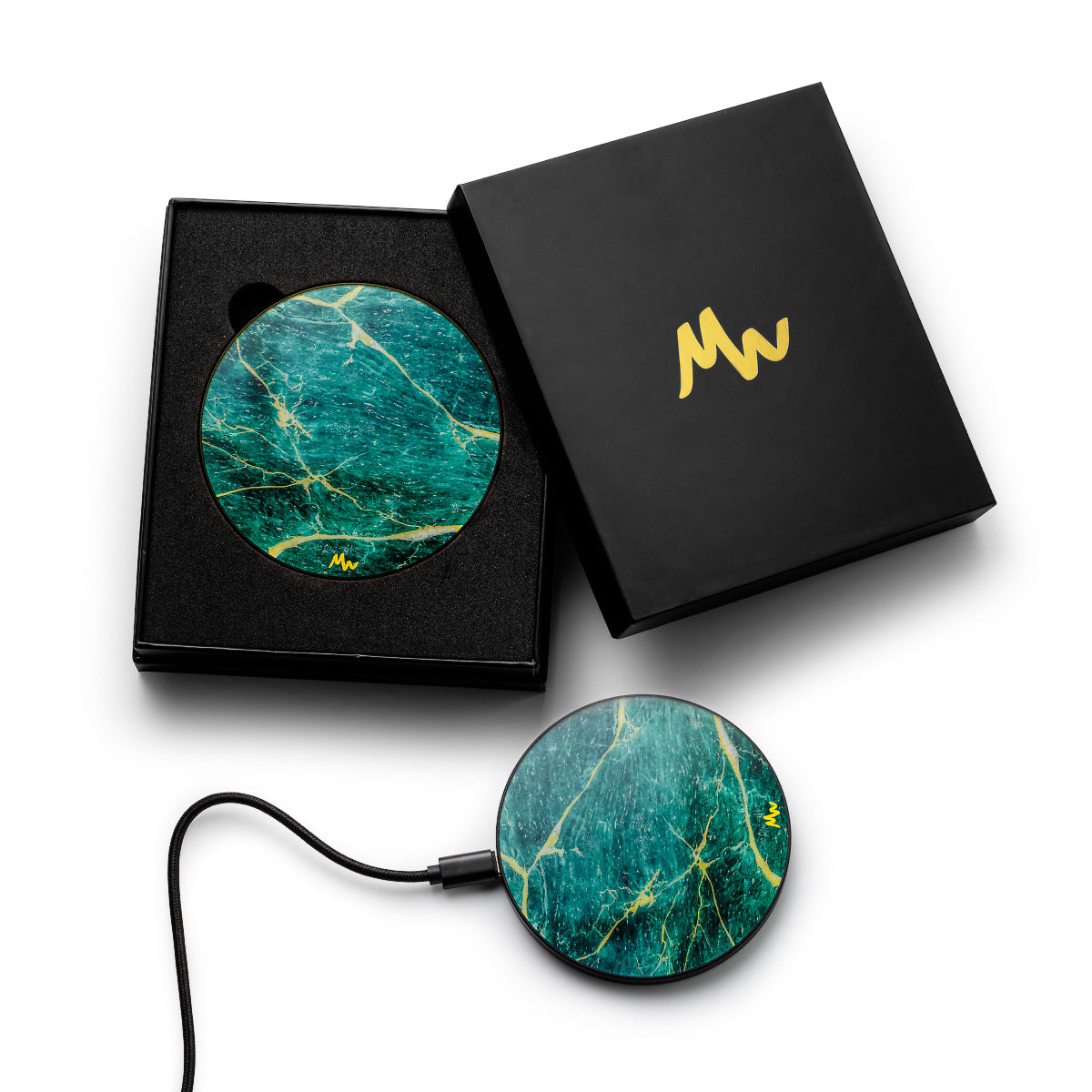 Green Marble - Black