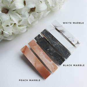 Smooth Marble Alligator Clips - Matching Pairs