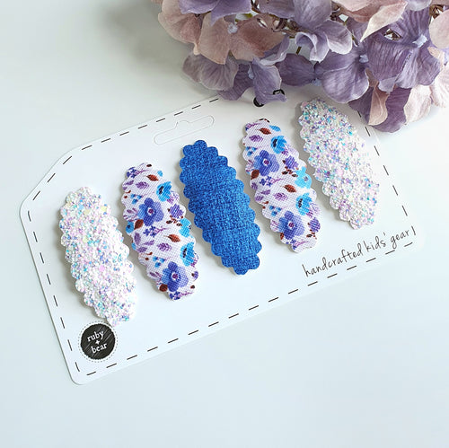 Cornflower Blue Snap Clip Set