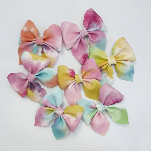 Nora Scallop Edged Big Sister Bow - 30% Of Each Sale Donated To The Child Cancer Foundation Via Touch The Sky