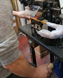 Ince Umbrellas Workshop - wood slotting