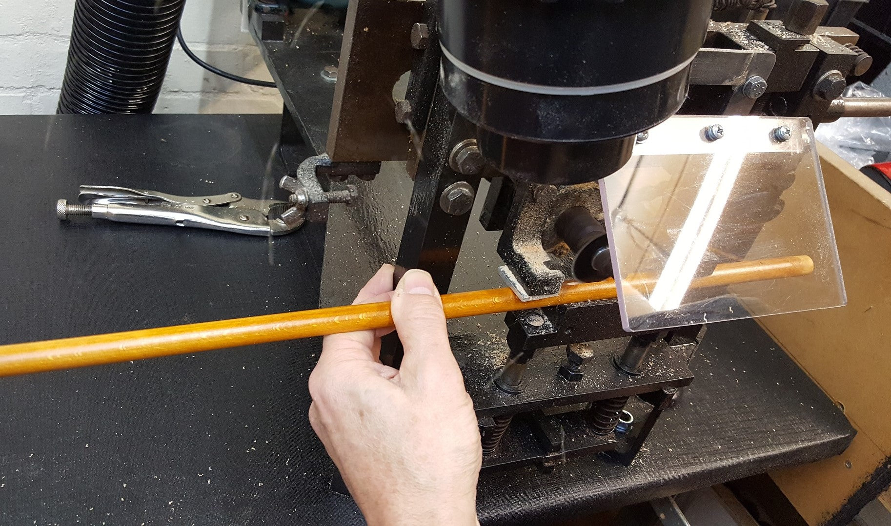 Making slots in an FSC beechwood dowel for a James Ince Umbrella