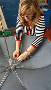 Folding Ince Umbrella - Carolyn hand stitching