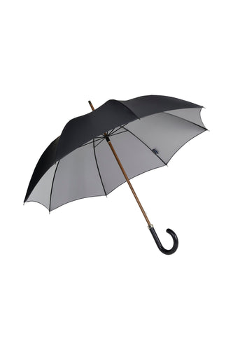 Gents Beechwood Ince Umbrella - Double face Black/silver