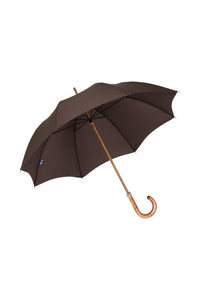 Gents Beechwood Ince Umbrellas with an Italian Maple handle and silver tipcup - Brown