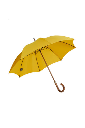 Gents Beechwood Ince Umbrella - Yellow