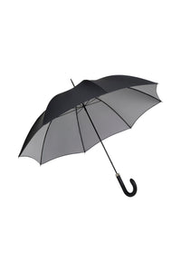 Gents City Slim Ince Umbrella - double sided Black/silver - black leather handle