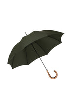 Gents City Slim Ince Umbrellas with a scorched and polished Maple Italian handle - Dark Forest