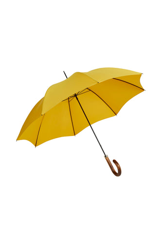 Gents City Slim Ince Umbrellas with a scorched and polished Maple Italian handle - Yellow