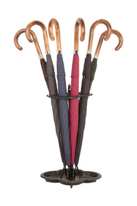 Gents City Slim Ince Umbrellas with a scorched and polished Maple Italian handle - Charcoal