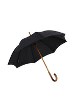 Gents Hickory Solid Stick Ince Umbrella - Black