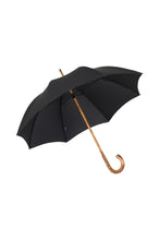 Gents Hickory Solid Stick Ince Umbrella - Black Polycotton