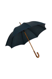 Gents Hickory Solid Stick Ince Umbrella - Black Watch Tartan