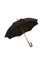 Gents Hickory Solid Stick Ince Umbrella - Brown