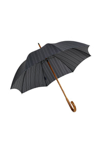 Gents Hickory Solid Stick Ince Umbrella - Prince of Wales Plaid