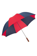 Golf Ince Umbrella - twin rib - red & navy - Straight Chestnut  Italian Handle