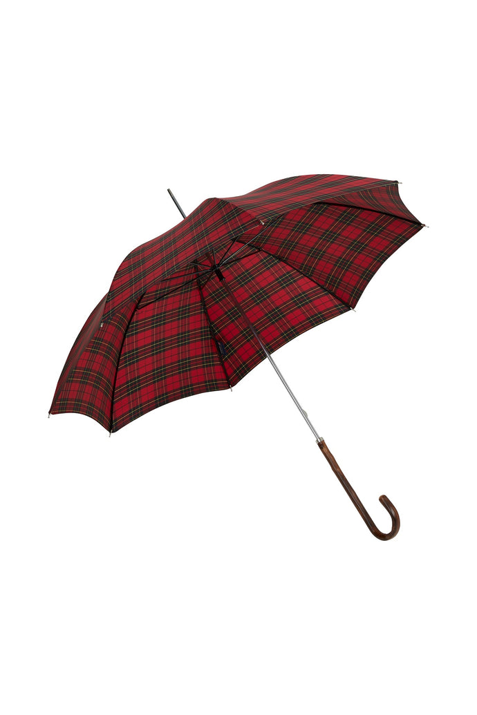 Ladies City Slim Ince Umbrellas with an Italian Chestnut Handle - Fraser Tartan