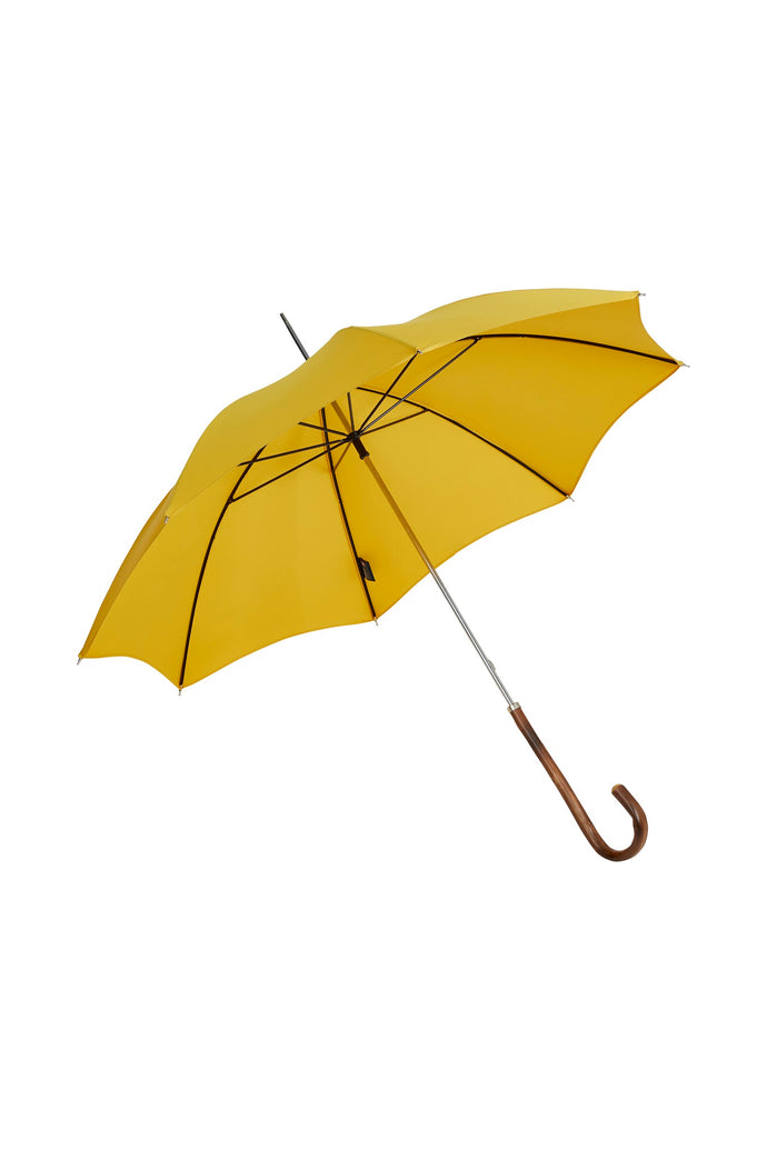 Ladies City Slim Ince Umbrellas with an Italian Chestnut Handle - Yellow