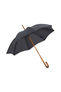 Ladies Solid Stick Ince Umbrella - Charcoal