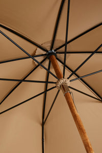 Ladies Solid Stick Ince Umbrella - Close-up of inside Rosette