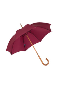 Ladies Solid Stick Ince Umbrella - Wine colour