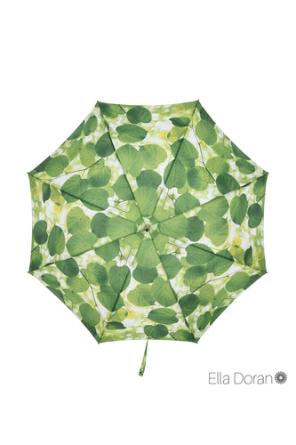 Ella Doran Sunlight through Leaves Walking Umbrella - top view