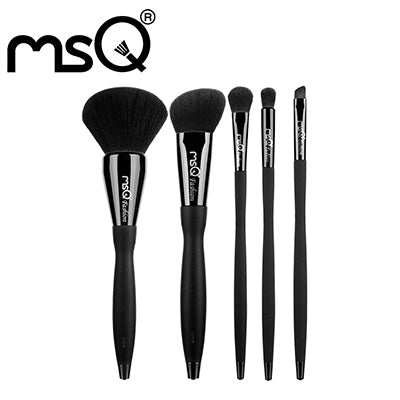 MSQ Brand Pro 10pcs Makeup Brushes Set Beauty Powder Eyeshadow Foundation Copper Ferrule With Magnetic Cylider Case Make Up Tool