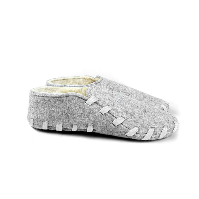 Chaussons adultes - Lasso Shoes - Lainé lacets blanc profil