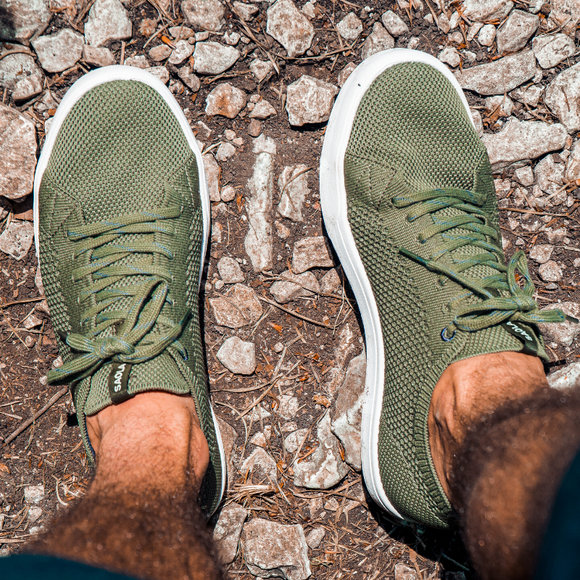 Baskets écologiques Saola Shoes Cannon Knit Burnt Olive
