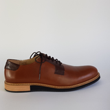 Derbies à lacets en cuir camel