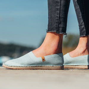 Espadrilles Vegan Saola Shoes Séquoia Misty Blue