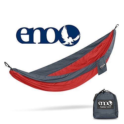 ENO - Eagles Nest Outfitters SingleNest Hammock, Portable Hammock for One, Red/Charcoal