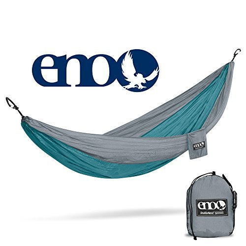 ENO - Eagles Nest Outfitters DoubleNest Hammock, Portable Hammock for Two, Seafoam/Grey