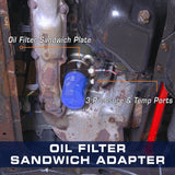 GlowShift Oil Filter Sandwich Adapter - 3/4 unf-16