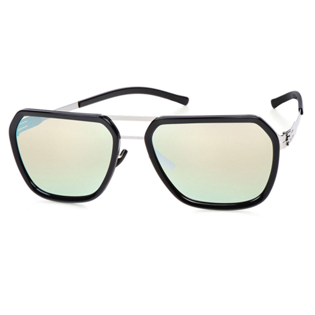 Ochelari de Soare-ic! Berlin Jorg R Chrome-Obsidian Silver-Mirrored-OchelariDirect
