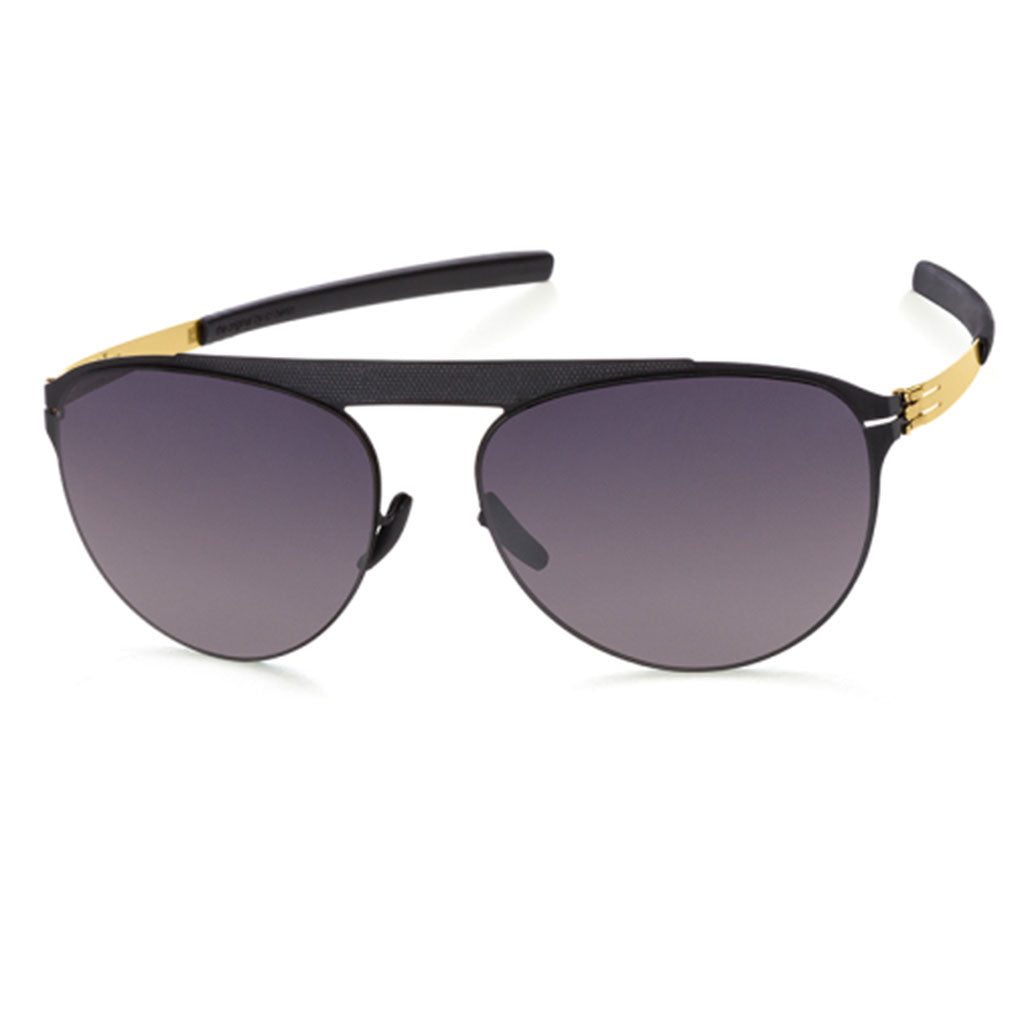 Ochelari de Soare-ic! Berlin Meike B Black-Matt-Gold-Polarized-OchelariDirect