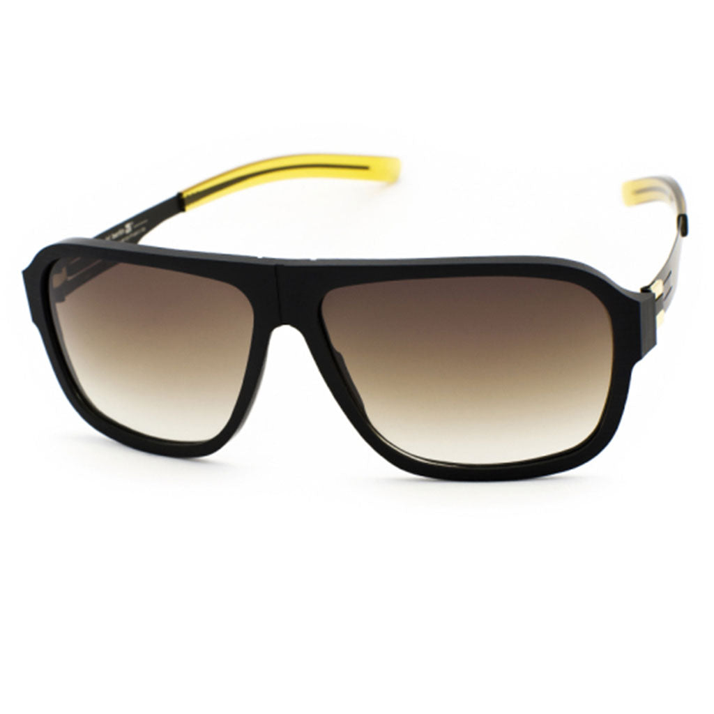 Ochelari de Soare-ic! Berlin Power Low Black-Rough Matt-Gold-OchelariDirect