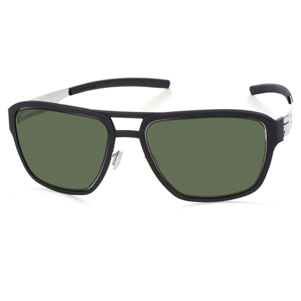 Ochelari de Soare-ic! Berlin Wipeout Chrome Black-Green Polarized-OchelariDirect