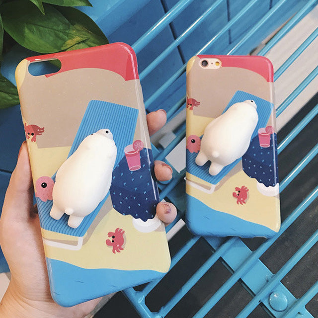 Phone Case for iPhone - Lazy Cat