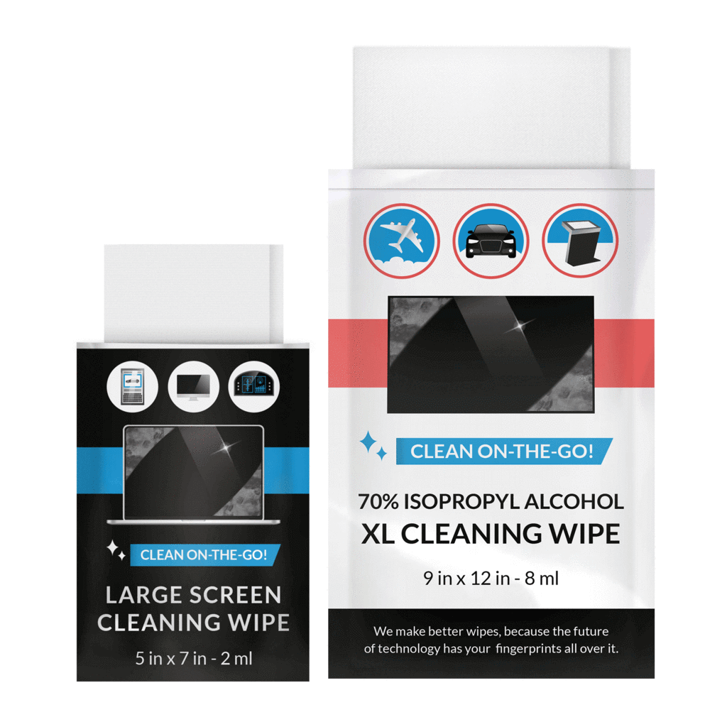 iCloth Lens and Screen Cleaner Pro-Grade Individually Wrapped Wet Wipes, Wipes for Cleaning Small Electronic Devices Like Smartphones and Tablets, Combo Pack.