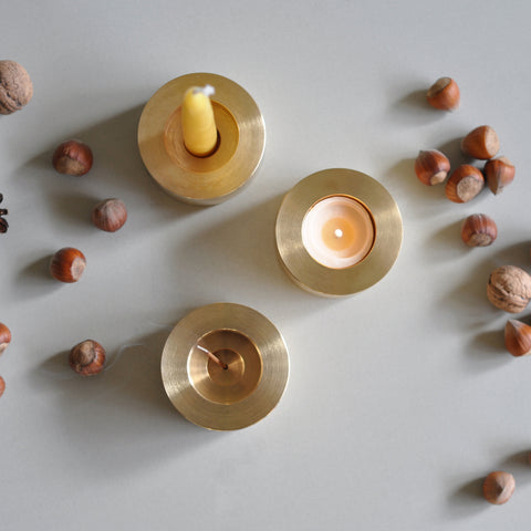 candle holder 3 in 1 marble - b