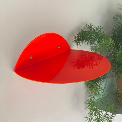 dot shelf neon red
