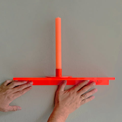 z shelf small neon red